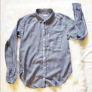 Hollister Tops - Hollister Mini Check Plaid Long sleeve Button-Down